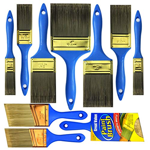 10 Piece Professional Painters(4INCH 3INCH 2INCH 2.5INCH 1INCH 1.5INCH) Heavy Duty Paint Brush,paint brushes,paint brushes set,paint brushes,painters tools,painters brush,painters paint brush