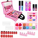 SHANNA Kids Makeup Kit for Girl, Pretend Makeup for Girls Kids 5-12 Years Old Non Toxic Washable - 11Pcs Fake-Make-up Toy Dress Up for Birthday Christmas