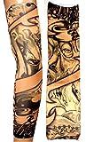 Inception Pro Infinite W05 - Modello 64 - Manicotto Tattoo - Indossabile - Manica - Tatuaggio Finto - Immagine - Occhio - Carte - Joker - Scritta - Tatoo - Mezza Manica - Tribale
