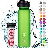 """720°DGREE Trinkflasche """"uberBottle"""" softTouch +Früchtebehälter - 1L - BPA-Frei - Wasserflasche für Uni, Sport, Fitness, Fahrrad, Outdoor - Sportflasche aus Tritan - Leicht,..."""