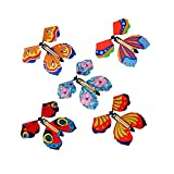 12 Piezas Mariposa Voladora, Regalo Sorpresa de Mariposa, Mariposa Magica Voladora, Banda de Goma Mariposa, Adecuado para Regalos de Cumpleaños, Educación Infantil, Regalos Sorpresa (Color Aleatorio)