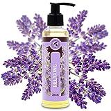 Aceite para Masajes Relajantes 200ml - Aceite de Lavanda 100% Natural - Cosméticos Naturales para Alivio del Estrés - Sueño Reparador - para el Cuidado de la Piel - Aromaterapia