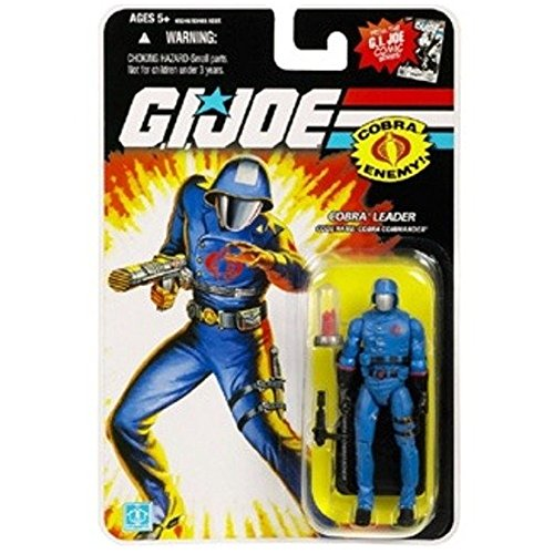 Hasbro Cobra Commander with M.A.S.S Device Crystal - GI Joe 25th Anniversary Action Figure (Comic Logo) by