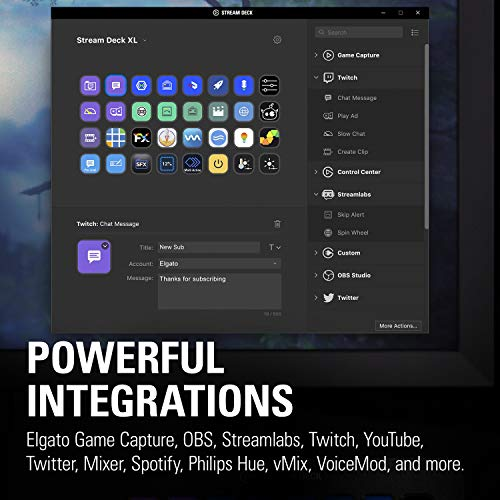 『CORSAIR elgato STREAM DECK XL ライブコンテンツ作成コントローラー メーカー保証2年 USB3.0 LCDボタン:32個 10GAT9901』の1枚目の画像