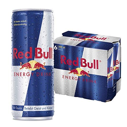 Red Bull Energy Drink, 6er Pack, EINWEG (6 x 250ml Dosen)