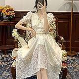 ShSnnwrl Sexy y Belleza conviven Dresses Vestidos Mujervestido De Una Pieza conCuello En V Elegante Vestido Vintage para Mujer