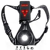 Zenoplige Sports Lauflicht,USB Wiederaufladbare, Wasserdicht Leichtgewichts,Lauflicht für Laufen Joggen Angeln Camping Radfahren (Schwarz)