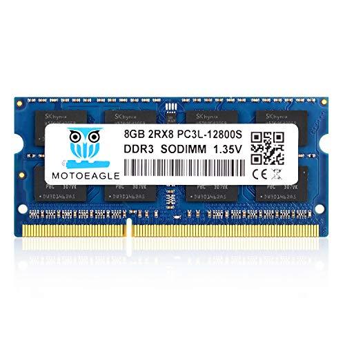 motoeagle 8GB DDR3L-1600 MHz SODIMM PC3L 12800S 1.35V/1.5V RAM 204-Pin Memory Upgrade for MacBook Pro, iMac, Mac mini/Server