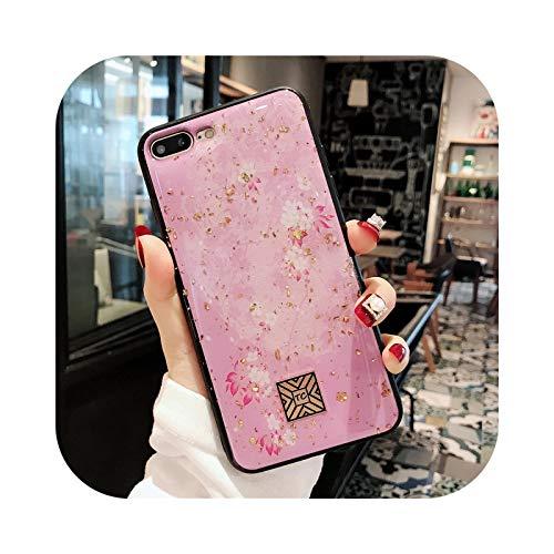 Funda de silicona de aluminio dorado de lujo para iPhone 11 Pro Xs Max para iPhone X XR 6 6S 7 8 Plus SE con purpurina suave casos-D02-para i6 Plus i6s Plus