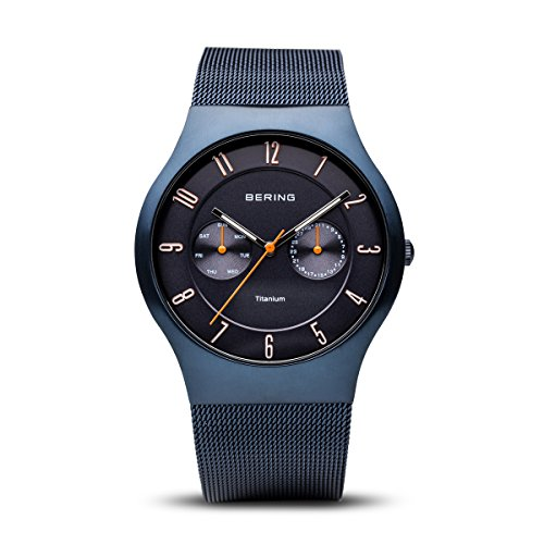 BERING Time | Men's Slim Watch 11939-393 | 39MM Case | Titanium Collection | Stainless Steel Strap | Scratch-Resistant Sapphire Crystal | Minimalistic - Designed in Denmark