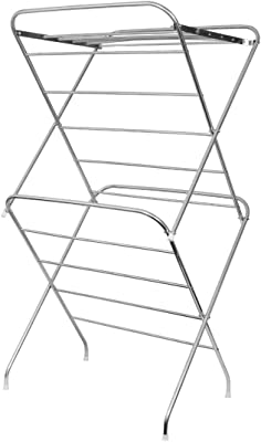 PARASNATH Stainless Steel 12 Rods Large Foldable Cloth Dryer/Clothes Drying Stand - Made in India