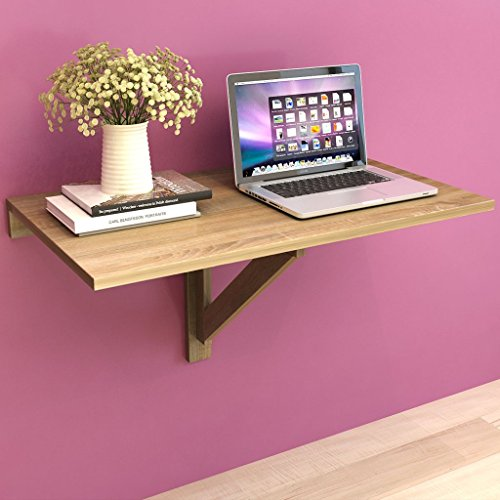 Festnight Table Pliable,Table Murale Rabattable en Bois 100 x 60 cm