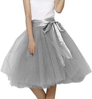 fe9bb9208ac84 Lilibridal Tutu Skirts 7 Layers Midi Elastic Belt Tulle Skirt LLBS010