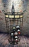 Livitat Weinregal Weinschrank H75 cm Hausbar Metall Vintage Shabby Chic LV5015