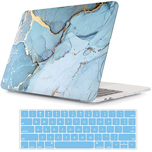 iLeadon MacBook New Pro 13' Case 2016-2019 Release A2159/A1989/A1706/A1708 Rubberized Hard Shell Case Cover+Keyboard Cover for MacBook Pro 13 W/Without Touch Bar & Touch ID, Ink Painting