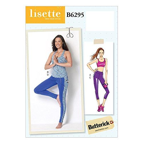 Butterick 6295E5Größen 14–22Schnittmuster BH-Top/Top und Leggings Schnittmuster, Mehrfarbig