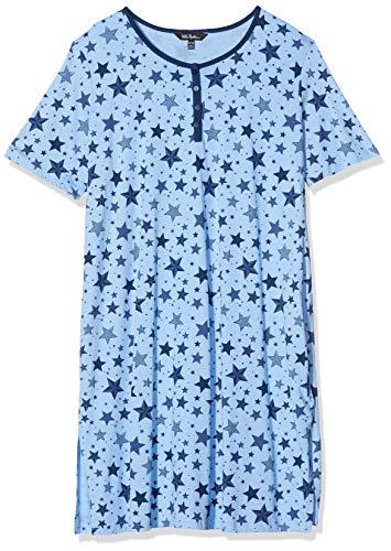 Ulla Popken Damen große Größen Big-Shirt 2er Pack, Sterne Nachthemd, Multicolor, 58+