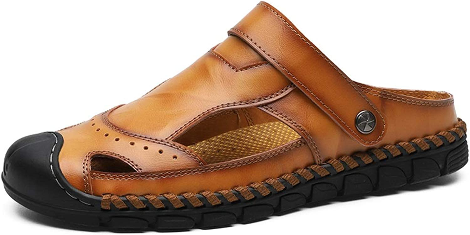 JIALUN-Sandals Sandals for Men Fashion Insouciant Comfy and Light Massage Insole Dual-use Slippers