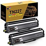 ONLYU Compatible Toner Cartridge Replacement for Brother TN227bk TN227 TN-227 TN223 TN 227 for HL-L3210CW HL-L3230CDW HL-L3270CDW HL-L3290CDW MFC-L3710CW MFC-L3750CDW MFC-L3770CDW Printer Ink (2 Pack)