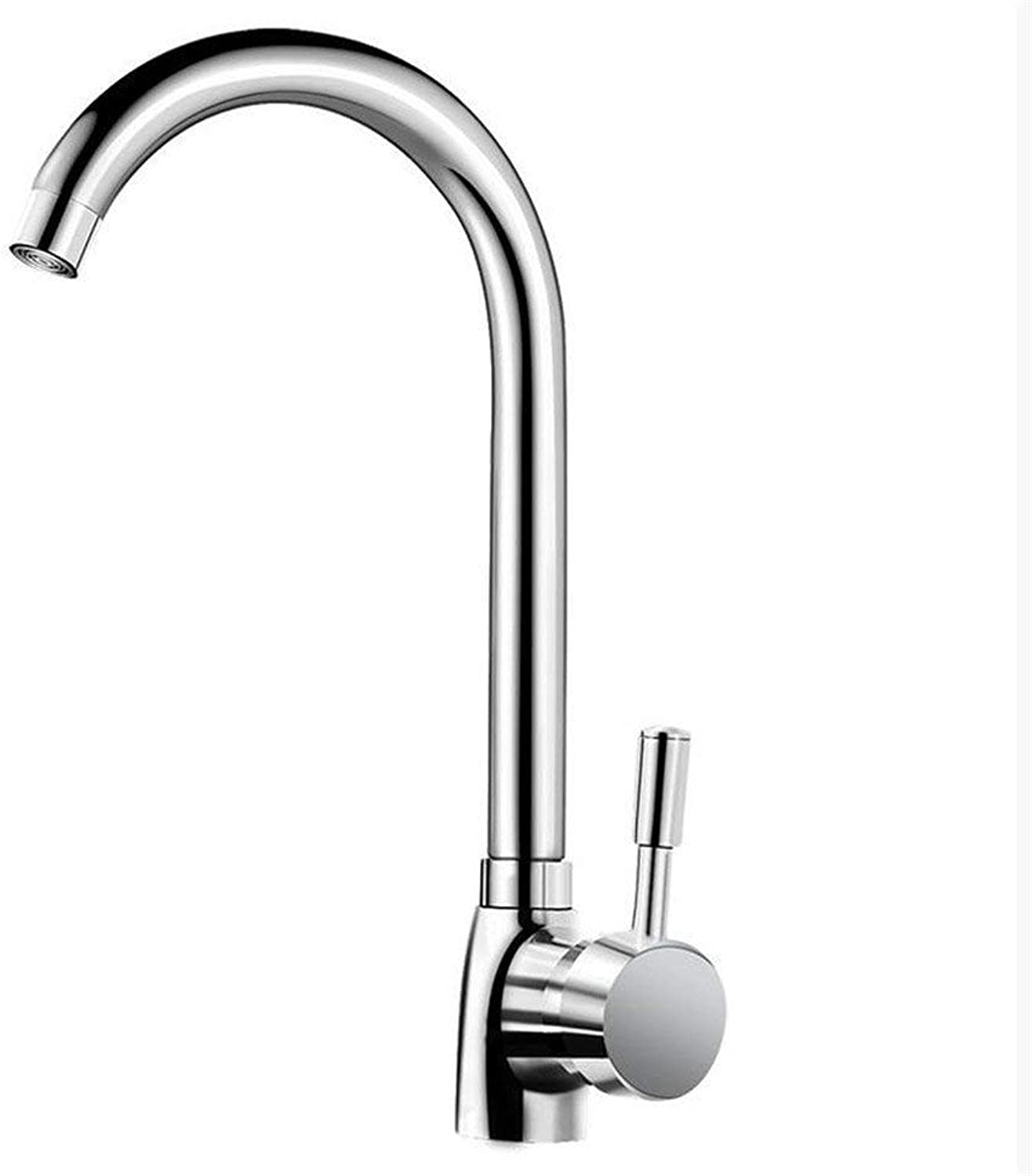 Oudan All Copper Kitchen Faucet redatably Cold Vegetables Basin Sink Faucet Mixing Valve Ceramic Valve Core Pool (color   -, Size   -)
