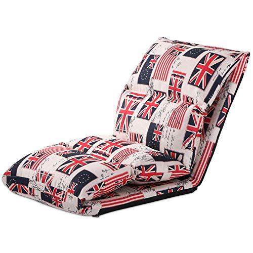 Bodenstuhl Tatami Stuhl Amerikanischer Sofastuhl Auf Dem Bett Einzel-Erker Schlafzimmerboden Klappstuhl Baumwolle Und Leinen Atmungsaktiv (Color : Rice Cloth)