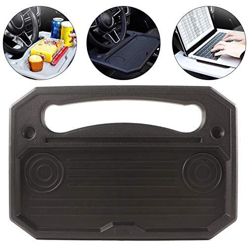 Spurtar - Bandeja para volante, mesa de coche, soporte para asiento de coche, portátil, tablet, iPad, portátil, mesa de viaje, bandeja de trabajo, color negro