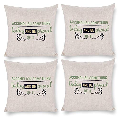 No branded Pack 4,Pillow Covers 18x18 Set of 4,Throw Pillow Cases Home Decor 4pcs A Smile is The Best Farmhouse Square Pillow Cushion Pillowcase for Sofa Bedroom Car Patio Chair Nursery