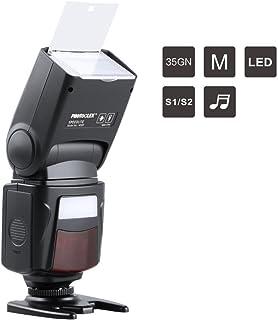 PHOTOOLEX M500 Flash Speedlite para Canon Nikon Sony Panasonic Olympus Fujifilm Pentax Sigma Minolta Leica y otras cámaras SLR Digital SLR rollo SLR y Cámaras Digitales con Zapata de Contacto Singular
