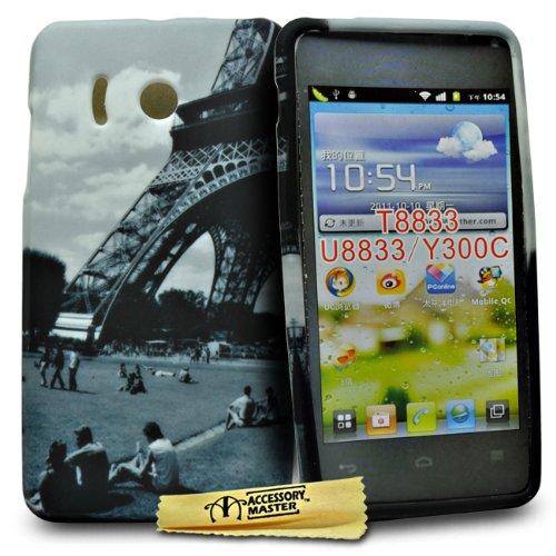 Accessory Master - Cover per Huawei Ascend Y300 T8833, Motivo Torre Eiffel con scorcio su Giardino