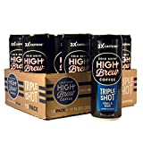 High Brew Cold Brew Coffee Vanilla Bean Triple Shot, 11 Ounce Can (12 Count)