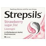 Strepsils Strawberry Sugar Free 36 Lozenges by Strepsils