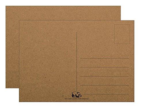 Postkarten Blanko Kraftpapier karton - Leere Postkarten 100 Stück zum Selbstgestalten beschreiben oder bemalen extra dickes 300g Recycletes Kraftpapier Braun Vintage für Kinder oder Erwachsene