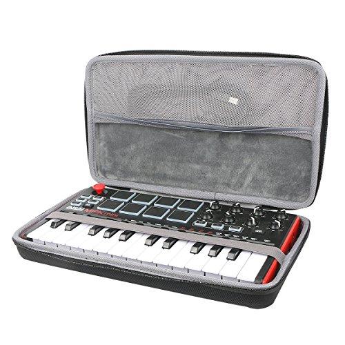 co2CREA Veranstalter Reise Lagerung Tragen Taschen Hülle für Akai Professional MPK Mini MKII/Mini MK3 / Mini Play USB MIDI Keyboard & Pad Controller (Nur Hülle)
