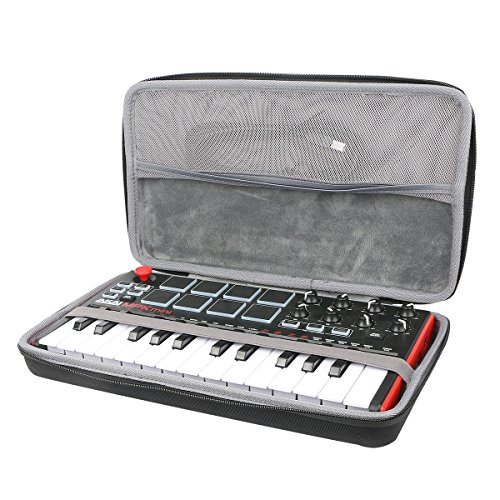 co2crea Hard Travel Case for Akai Professional MPK Mini MKII | 25-Key Ultra-Portable USB MIDI Drum Pad Keyboard Controller (Travel Case)