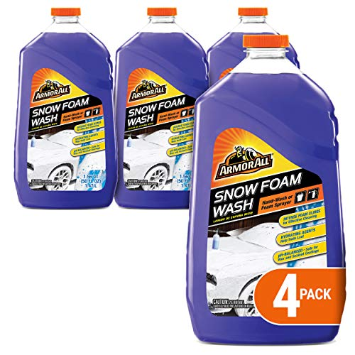 Armor All Car Wash Snow Foam Formula Cleaning Concentrate for Cars Truck Motorcycle Bottles 50 Fl Oz Pack of 4 191414PK