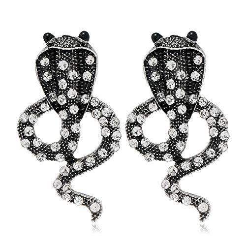 Pendientes de botón de serpiente simples de temperamento Retro Hombres y mujeres de moda europeos y americanos 1128-2#