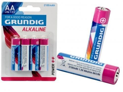Confezione da 4batterie alcaline–Grundig AA alcalina LR61.5V 2100mAh mws1222
