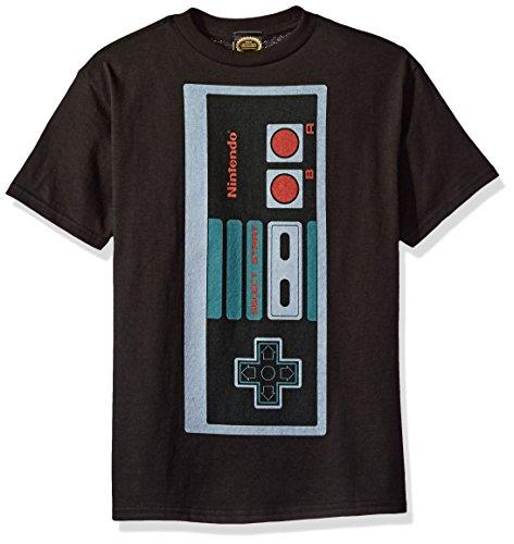 Nintendo Little Boys Classic Big Controller Graphic T-shirt, black, YM