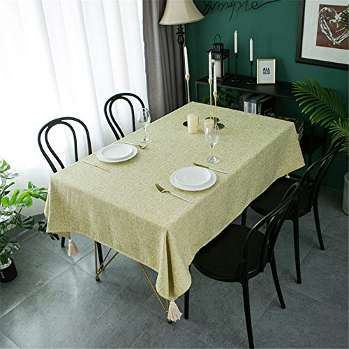 Mantel De Poliéster con Estampado De Color Sólido, Mantel Rectangular para Mesa De Centro, Mantel De Cocina para Hotel