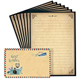 Lined Vintage Stationary Paper a...