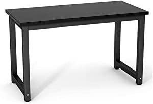 Dripex Holz Schreibtisch Computertisch, 120x60x74cm PC-Tisch Bürotisch Officetisch Stabile Konstruktion Tisch für Home Office Schule (120cm Schwarz-Schwarz)