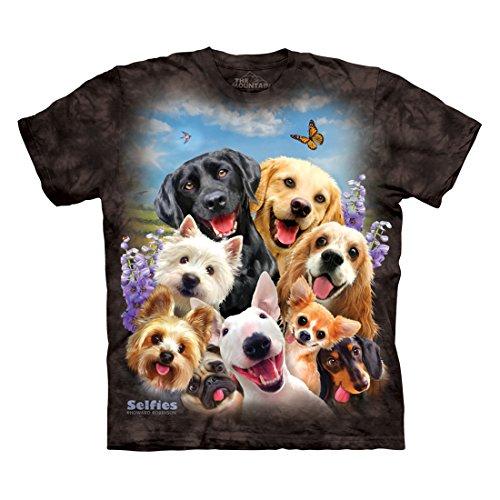 The Mountain Men's Dog Selfie T-Shirt, Black, M