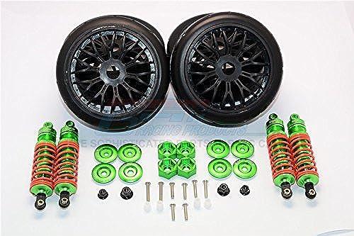 Traxxas Slash 4x4 & Slash 4x4 LCG Tuning Teile Aluminium Rally Racing Dampers And Tires - 4Pc Set Grün