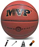 ZHOU.D.1 Basketball- Standard Basketball Indoor and Outdoor No. 7 Basketball Size 9.7 Inches (24.6 cm), Training Basketball,with Pump (Color : Brown)