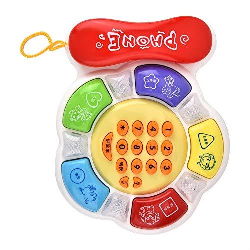 Caiqinlen Juguete de teléfono, Juguete de teléfono Suave y Colorido, Forma de Flor de luz LED de 6 Meses y Mayores para Aprender números, reconocer Colores