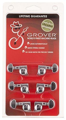 Grover 406C Rotomatic Mini-Saitenspanner, 3pro Seite, Autoklemmmechanik, verchromt