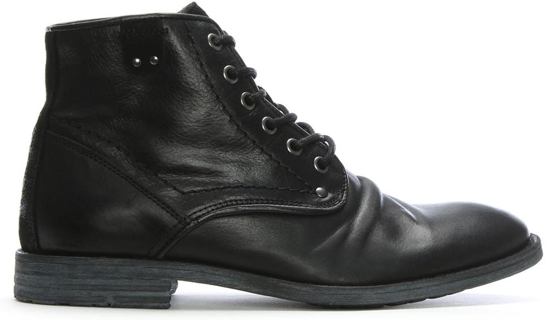 Daniel Prentis svart läder Ankle stövlar 12 svart läder