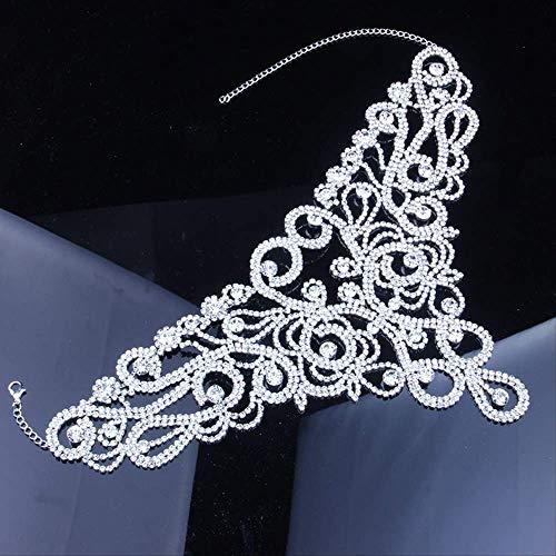 LDRENF Boda Gargantilla DeclaracióN Collar Ins Moda Rhinestone Nuevo Bib Collar De Cristal para Las Mujeres 2019 JoyeríA