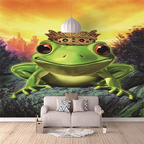 RJYHJL Papel Pintado 3D Fotomural Rana Pared Mural Papel Tapiz Pared Moderno Wallpaper A250 x L175 cm