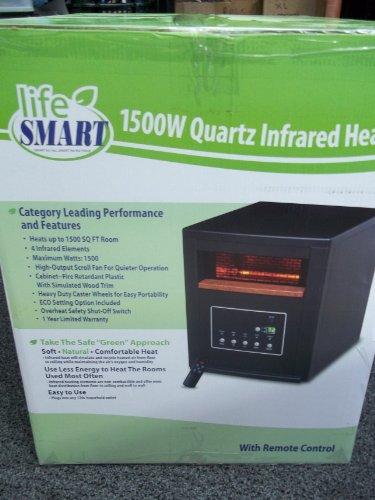 Lifesmart LS-4P1500HOM Plastic Infrared Heater